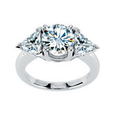Created Moissanite Engagement Ring