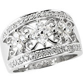 Created Moissanite & Diamond Band