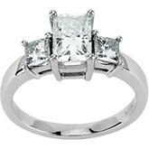 Created Moissanite 3-Stone Ring