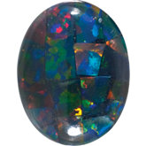 Oval Lab Created Mosaic Opal
