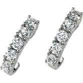 Created Moissanite J-Hoop Earrings