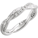 Diamond Engraved Eternity Band