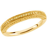 1/6 ct tw Yellow Diamond Band