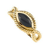 Genuine Onyx Cabochon Ring