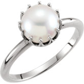 Freshwater Cultured Pearl Ring or Mounting