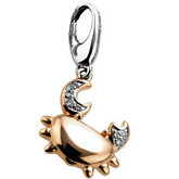.025 ct tw Diamond Crab Charm