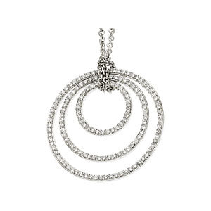 Concentric Circles Diamond Necklace