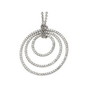 Concentric Circles Diamond Necklace