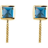 London Blue Topaz Semi-mount Earrings