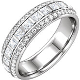 3-Row Eternity Band