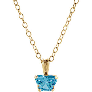 "10K Yellow December Birthstone 14"" Necklace"