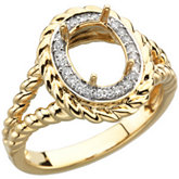 Diamond Semi-Mount Fashion Ring
