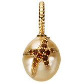 Paspaley South Sea Cultured Pearl Pendant with Citrine Starfish