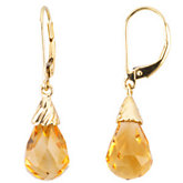 Genuine Citrine Briolette Earrings