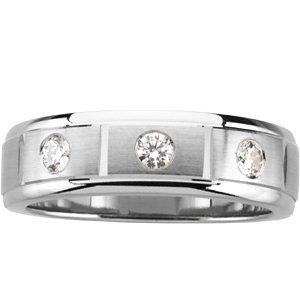 Men's 7mm Diamond Tapered Ring