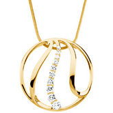 3/4 ct tw Journey Diamond Pendant