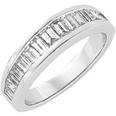 1 ct tw Baguette Diamond Band