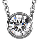 1/3 ct tw Platinum Diamond Solitaire Necklace