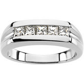 7/8 ct tw Platinum Gent's Diamond Ring