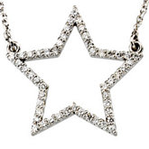 1/4 ct tw Diamond Star Necklace