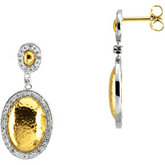 1/2 ct tw Two Tone Diamond Earrings