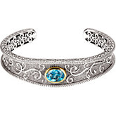 Genuine Swiss Blue Topaz Bracelet