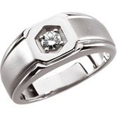 Created Moissanite Gents Ring