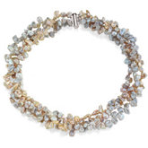 Freshwater Keshi Multi-Color Cultured Pearl Bracelet or Necklace