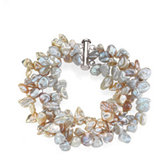 Freshwater Keshi Cultured Pearl Bracelet or Necklace
