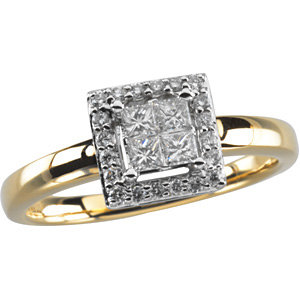 Diamond Two-Tone Engagement Ring