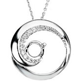 Circle Design Dangle Pendant