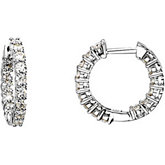 Created Moissanite Inside/Outside Hoop Earrings