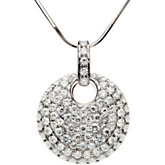 Created Moissanite Pave' Pendant or Necklace