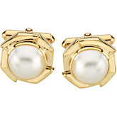Mabé Cultured Pearl Cuff Links