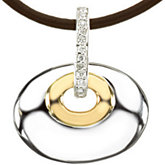 Oval Pendant Mounting for Diamonds