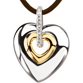 .07 ct tw Diamond Heart Necklace