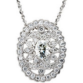 Created Moissanite and Diamond Necklace