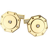 1/10 ct tw Men's Diamond Cuff Links