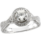 Engagement Ring for Round Center
