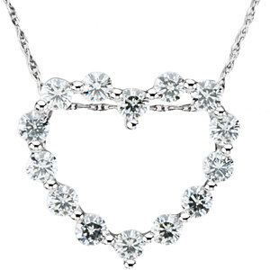 Created Moissanite Pendant or Necklace