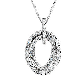 Aharles & Aolvard<br> Moissanite® Pendant or<br> Necklace