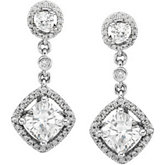Created Moissanite & Diamond or Semi-Mount Earrings