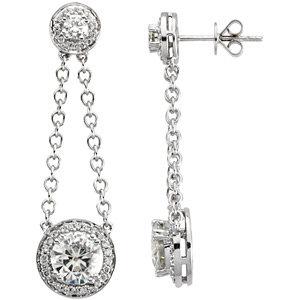 Halo-Styled Dangle Earrings