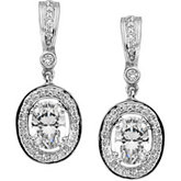 Diamond Semi-mount Earrings