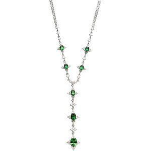 Tsavorite Garnet & Diamond Necklace or Semi-Mount