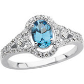 1/4 ct tw Diamond Ring for Oval Center Stone