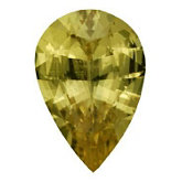 Pear Genuine Yellow Sapphire (Black Box)