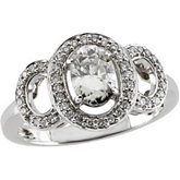 Created Moissanite and Diamond Ring