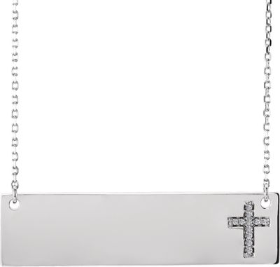 Engravable Cross Necklace