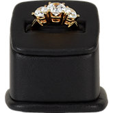 Black Leatherette Small Ring Pedestal Display
